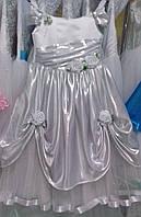 """Детское нарядное платье """"Диско"""" (бело-серебристое)"""
