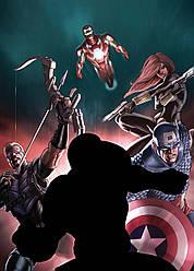 Картина GeekLand Avengers Мстители комиксная рисовка 40х60см AG.09.016