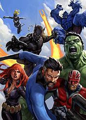 Картина GeekLand Avengers Мстители комиксная рисовка 40х60см AG.09.017