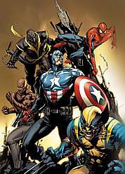 Картина GeekLand Avengers Мстители комиксная рисовка 40х60см AG.09.021