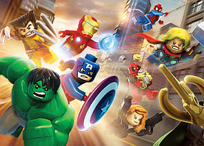 Картина GeekLand Avengers Мстители лего 60х40см AG.09.062