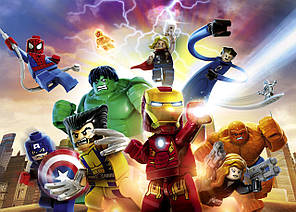 Картина GeekLand Avengers Мстители лего 60х40см AG.09.063