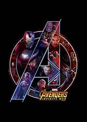 Картина GeekLand Avengers Мстители логотип 40х60см AG.09.118