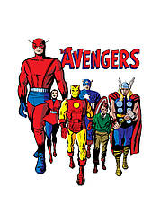 Картина GeekLand Avengers Мстители минимализм 40х60см AG.09.049