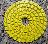 Алмазные шлифовальные круги для каменного пола 100х5 мм. Желтые. #800