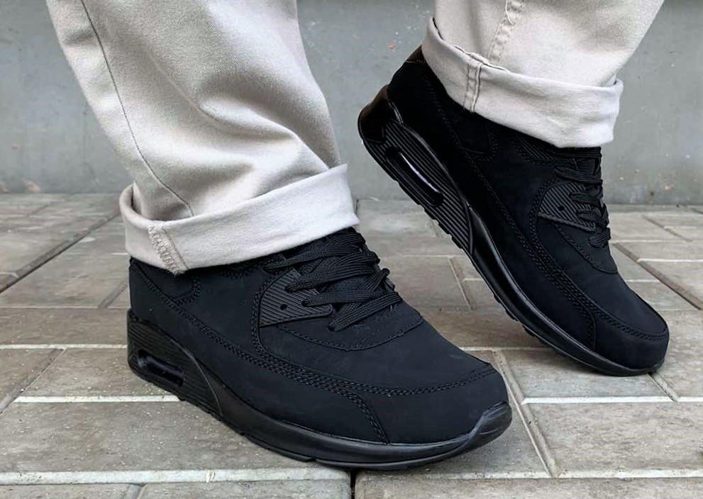 Мужские черные кроссовки реплика Nike 44 размер