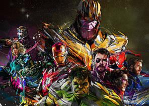 Картина GeekLand Marvel heroes Герои Марвел арт 60х40см MH.09.030