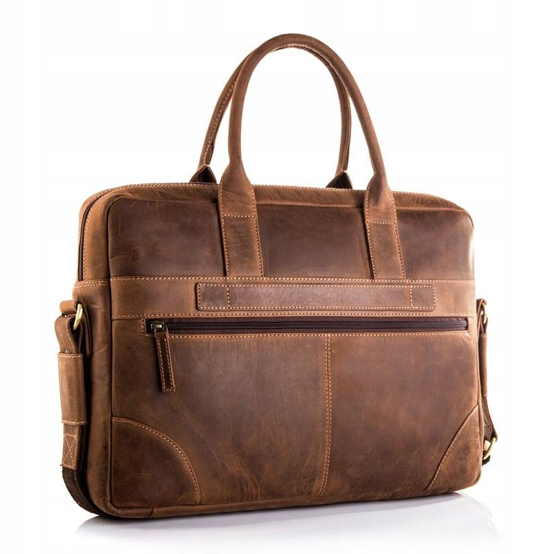 Чоловіча сумка для ноутбука BETLEWSKI  42 х 30 х 7 (TBG-HT-201) - коричневий