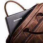 Чоловіча сумка для ноутбука BETLEWSKI  42 х 30 х 7 (TBG-HT-201) - коричневий, фото 4