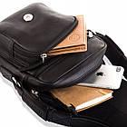 Чоловіча шкіряна сумка Betlewski 17 х 23 х 8 (TBG-YM-103) - чорна, фото 6