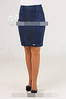 Молодежная юбка Эмма  Жакард  синего , черного  цвета  (О.М.Д.) Новинка., фото 1