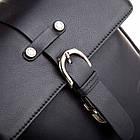 Чоловіча шкіряна сумка Betlewski 22 х 23 х 6 (TBG-YM-101) - чорна, фото 5