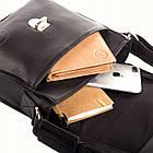 Чоловіча шкіряна сумка Betlewski 22 х 23 х 6 (TBG-YM-101) - чорна, фото 7