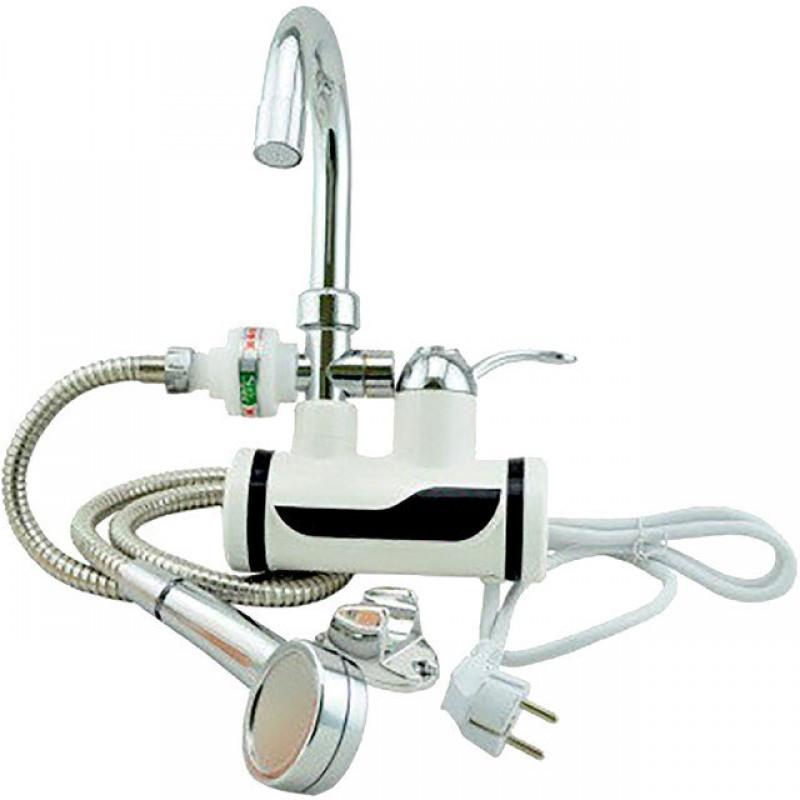 Проточный водонагреватель Water heater Delimano с душем  боковое подключение