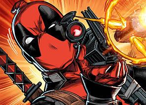 Картина GeekLand Deadpool Дэдпул комикс арт 60х40см DP.09.073