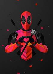 Картина GeekLand Deadpool Дэдпул минимализм 40х60см DP.09.042