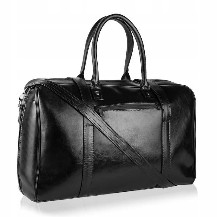 Шкіряна дорожня сумка BETLEWSKI (BTM-03) 54х34-чорна