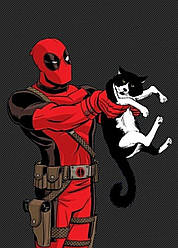 Картина GeekLand Deadpool Дэдпул минимализм 40х60см DP.09.165