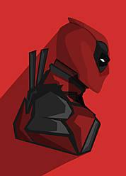 Картина GeekLand Deadpool Дэдпул минимализм 40х60см DP.09.168
