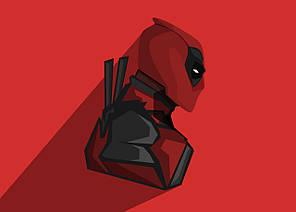 Картина GeekLand Deadpool Дэдпул минимализм 60х40см DP.09.004
