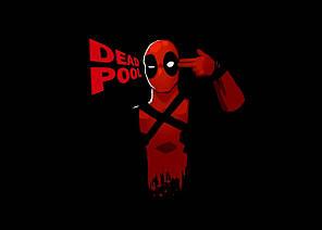 Картина GeekLand Deadpool Дэдпул минимализм 60х40см DP.09.007