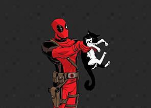 Картина GeekLand Deadpool Дэдпул минимализм 60х40см DP.09.008