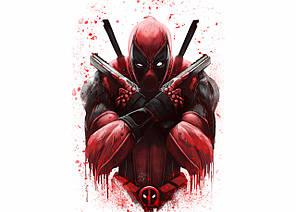 Картина GeekLand Deadpool Дэдпул минимализм 60х40см DP.09.072