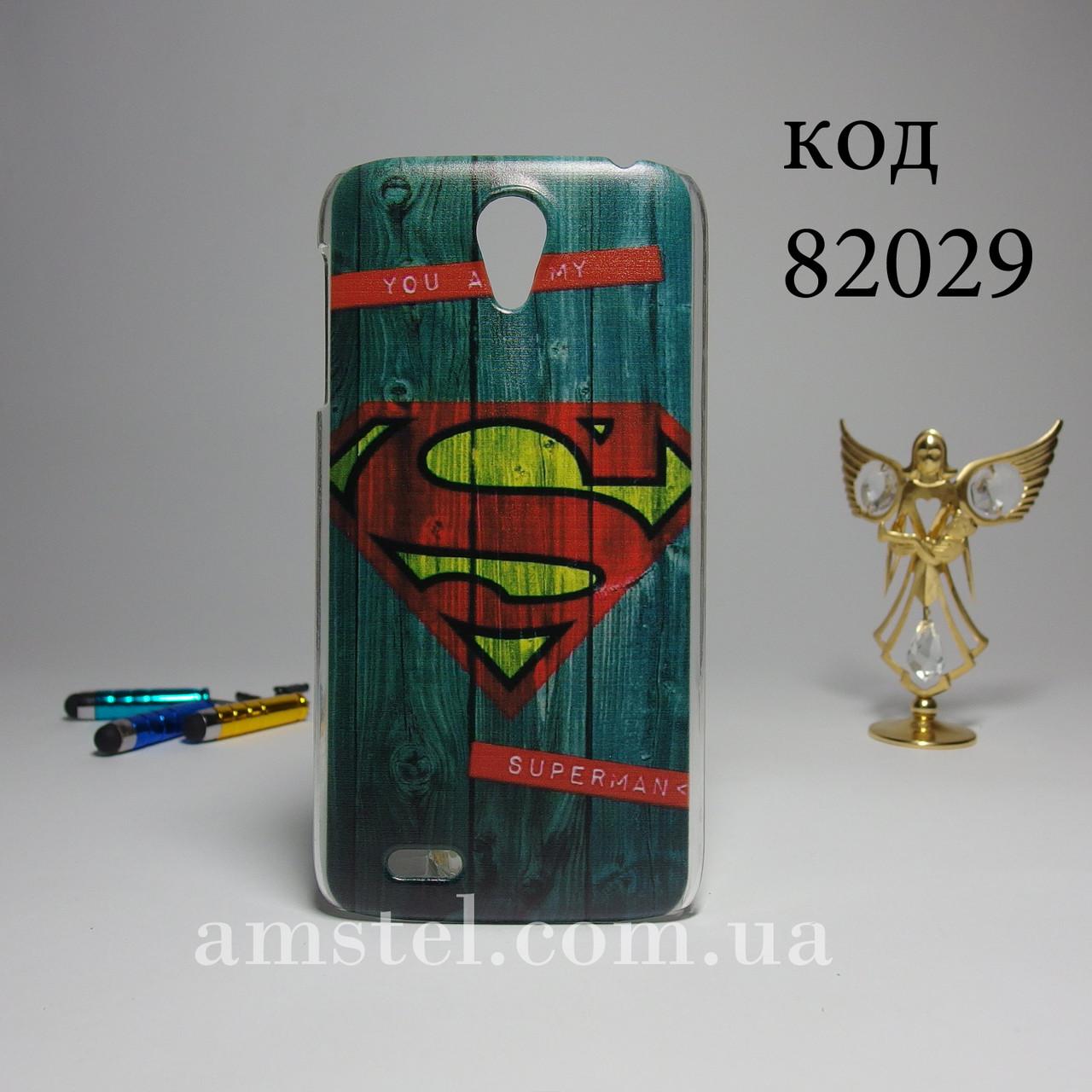 Чехол для lenovo s820 панель накладка с рисунком супермен