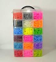 Большой набор резинок для плетения браслетов 6 ярусов 16000