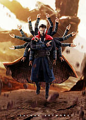 Картина GeekLand Doctor Strange Доктор Стрендж Война Бесконечности 40х60см DS.09.066