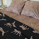 Комплект постельного белья  Бязь GOLD 100% хлопок  Леопард, фото 2