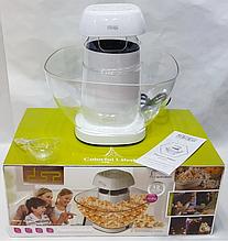 Аппарат для попкорна DSP 2018 Plus приготовление попкорна, попкорница белая