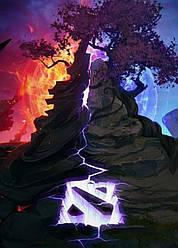 Картина GeekLand Dota 2 Дота 2 логотип 40х60см DT.09.200