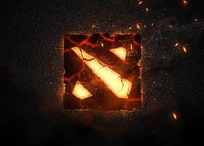 Картина GeekLand Dota 2 Дота 2 логотип 60х40см DT.09.155