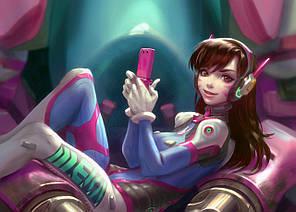 Картина GeekLand Overwatch Овервотч D.VA 60х40см OW.09.022