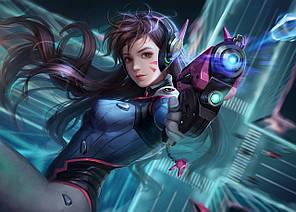 Картина GeekLand Overwatch Овервотч D.VA 60х40см OW.09.025