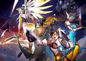 Картина GeekLand Overwatch Овервотч битва 60х40см OW.09.026