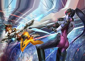 Картина GeekLand Overwatch Овервотч битва 60х40см OW.09.028