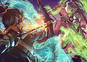Картина GeekLand Overwatch Овервотч битва 60х40см OW.09.030