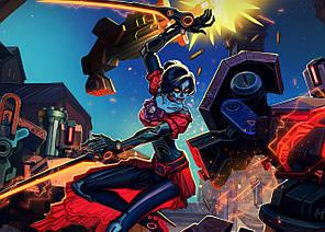 Картина GeekLand Overwatch Овервотч битва 60х40см OW.09.031
