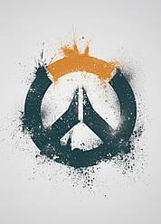 Картина GeekLand Overwatch Овервотч логотип 40х60см OW.09.054