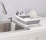 Сушилка-поддон для посуды складная силиконовая (40, фото 2