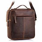 Чоловіча шкіряна сумка Betlewski 23 х 26 х 8 (TBG-HT-100) - коричнева, фото 2