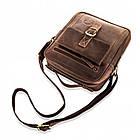 Чоловіча шкіряна сумка Betlewski 23 х 26 х 8 (TBG-HT-100) - коричнева, фото 3