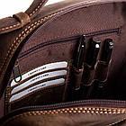 Чоловіча шкіряна сумка Betlewski 23 х 26 х 8 (TBG-HT-100) - коричнева, фото 6