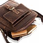 Чоловіча шкіряна сумка Betlewski 23 х 26 х 8 (TBG-HT-100) - коричнева, фото 7