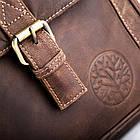 Чоловіча шкіряна сумка Betlewski 23 х 26 х 8 (TBG-HT-100) - коричнева, фото 8