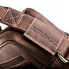 Чоловіча шкіряна сумка Betlewski 23 х 26 х 8 (TBG-HT-100) - коричнева, фото 9