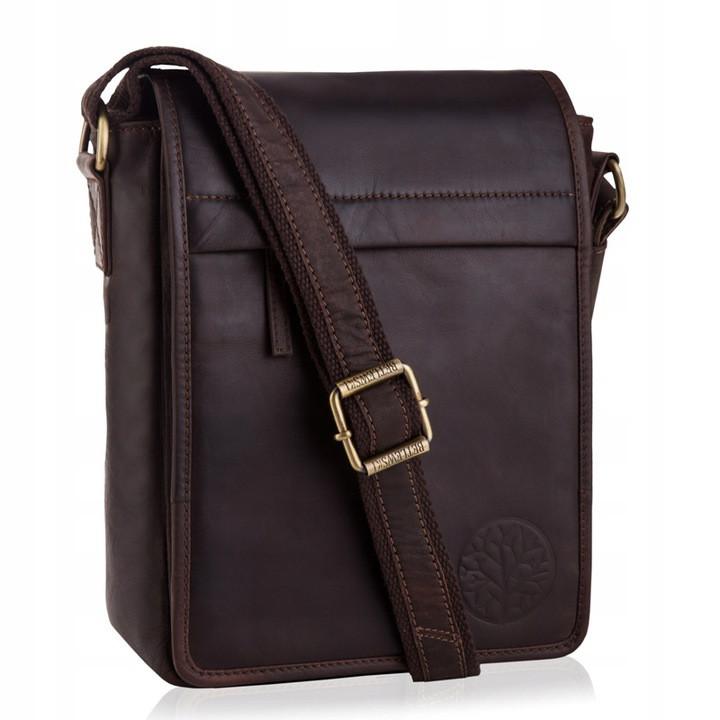 Чоловіча шкіряна сумка BETLEWSKI 21 х 27 х 12 (TBG-YM-107) - коричневий