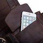 Чоловіча шкіряна сумка BETLEWSKI 21 х 27 х 12 (TBG-YM-107) - коричневий, фото 10